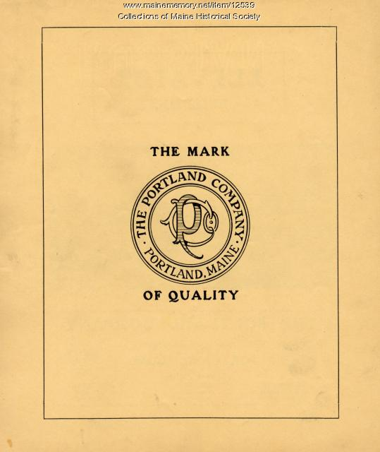 Portland Company Logo, ca. 1900