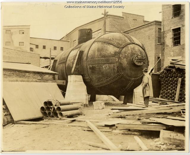 Steam Accumulator, Portland Company-built, Piercefield, N.Y., c. 1900