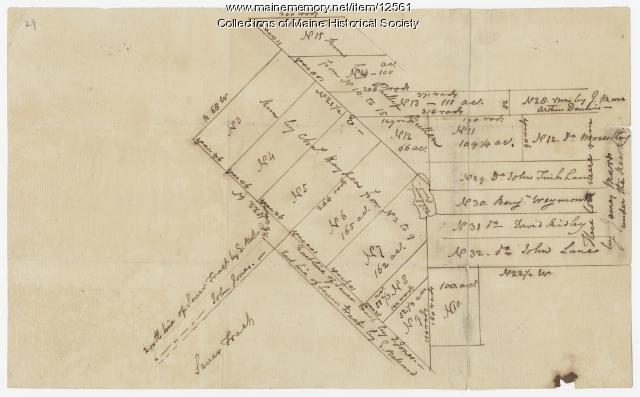 Lots on Tinkham's Pond, Kennebec Patent, ca. 1800