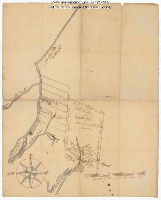 Part of the Pownalborough plan, Augusta and Dresden, ca. 1760