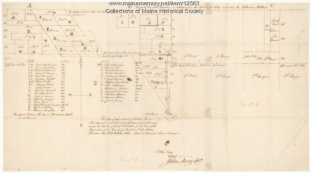 Survey of settlers' lots in Norridgewock, 1802 and 1803