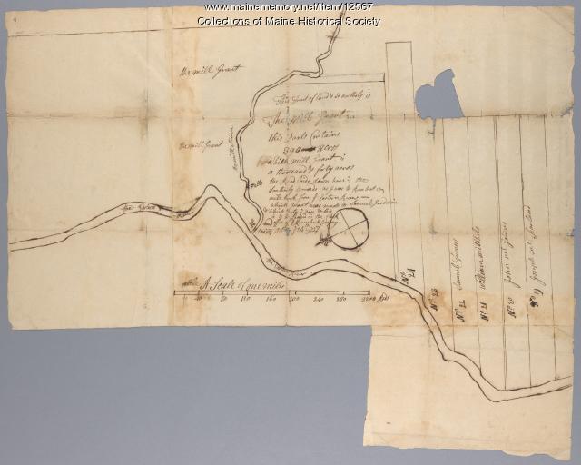 Samuel Goodwin mill grant, Dresden, 1757