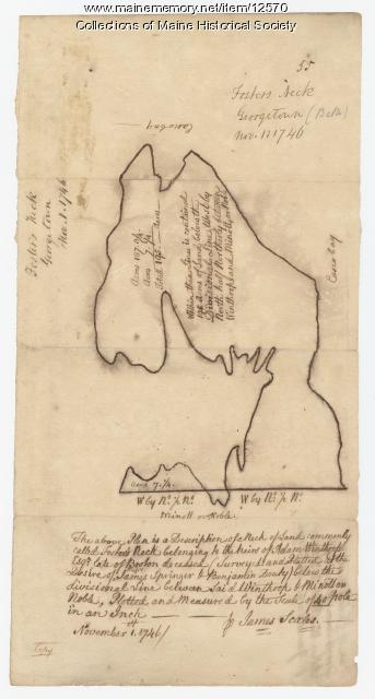 Foster's Neck, map 55, Georgetown, 1746