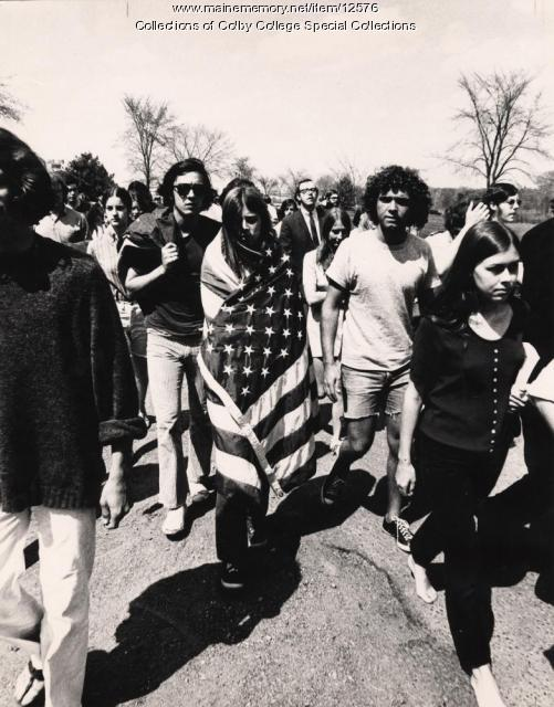 Student strike, Colby College, 1970