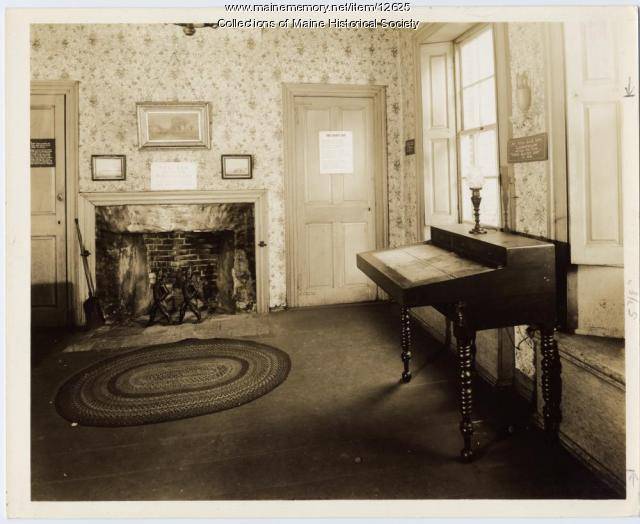 Rainy Day Room, Wadsworth-Longfellow House, Portland, ca. 1950