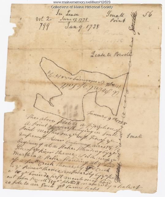 Small Point, 1738, map 56