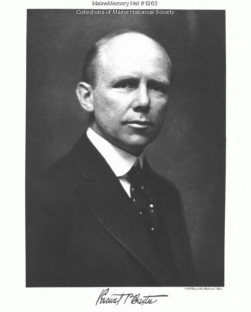 Percival P. Baxter, ca. 1921