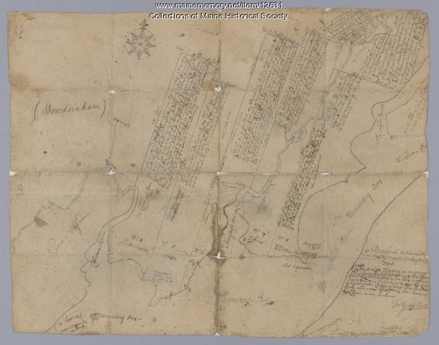 Bowdoinham, five farm lots, 1718