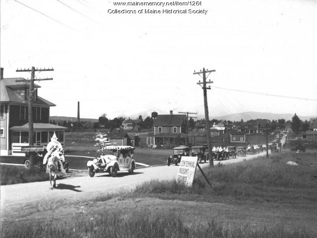 Ku Klux Klan parade, Brownville Junction, 1924