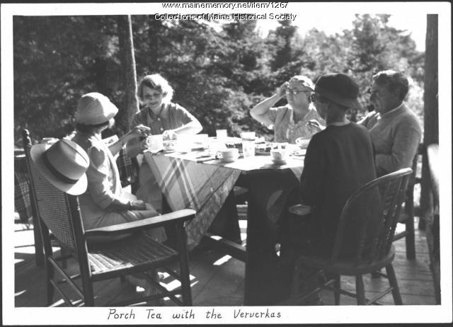 Porch tea, Greenville, 1934