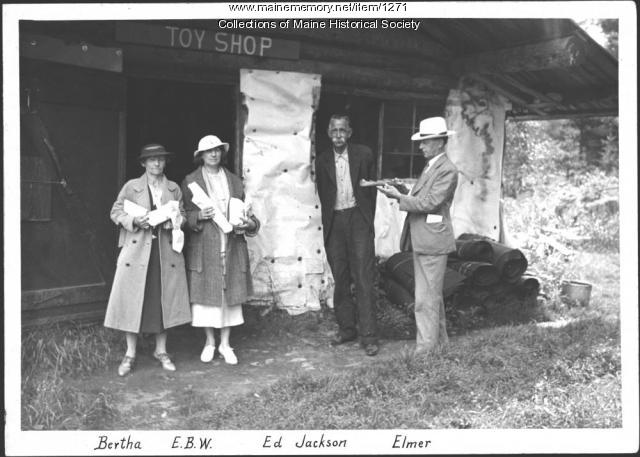 Ed Jackson toy shop, Lily Bay, 1934