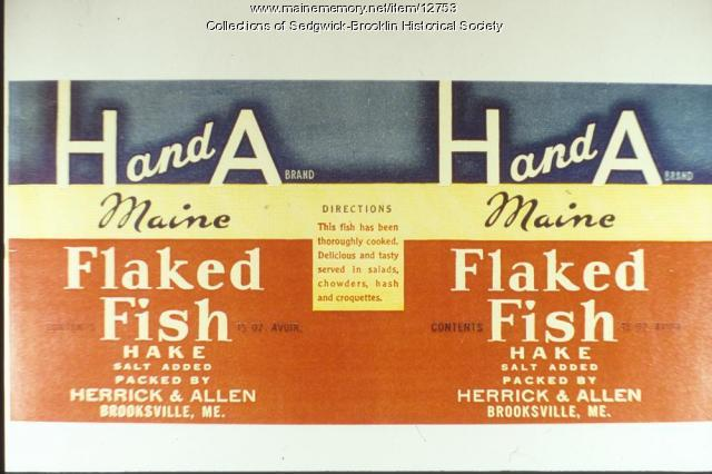 Label for Canned Fish Product