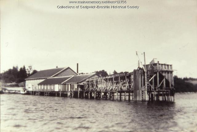 Herrick and Allen's Fish Cannery, Brooklin, 1927