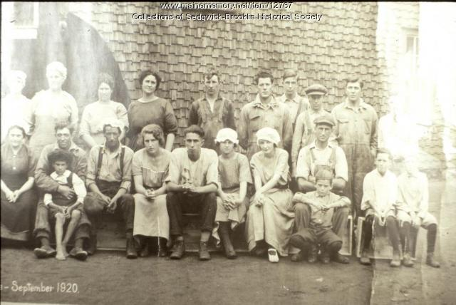 Women employees, Farnsworth Fish Cannery, Brooklin