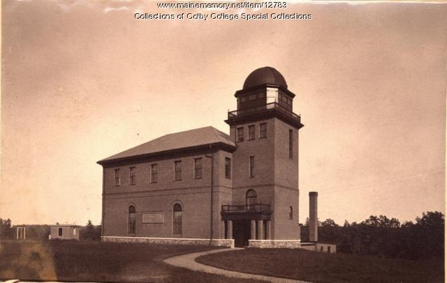 Shannon Hall with Observatory, Colby College, Waterville, ca. 1900