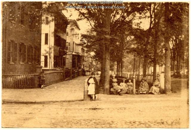 State and Spring Street, Portland, ca. 1880
