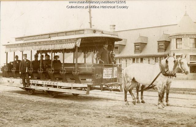 Horse trolley, Portland, ca. 1890