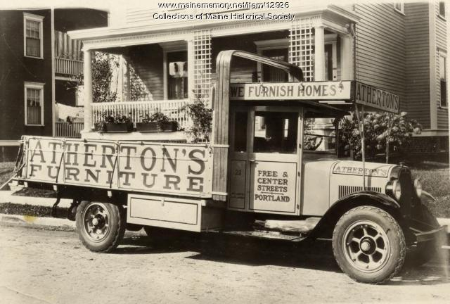 Atherton Furniture truck, Portland, ca. 1925