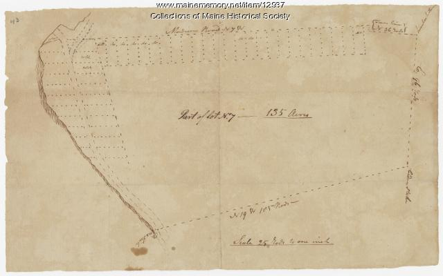 Map of lot no. 7, 135 acres on Madison Rd., Skowhegan, ca. 1760