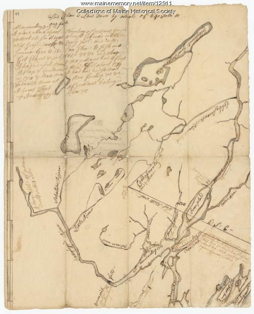 Plan of the Kennebec River, Nov. 1763