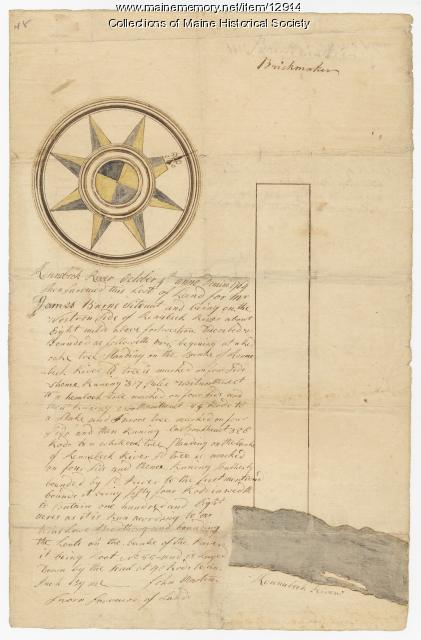 Plan of James Burns lot, 1764
