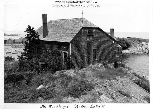 Mr. Woodbury's studio, Ogunquit, 1937