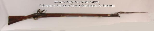 Flintlock rifle with bayonet