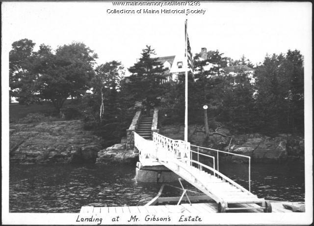 Boat landing,Gibson estate, Islesboro, 1937