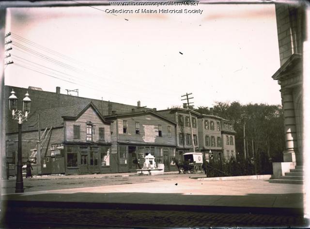 Market and Federal streets, Portland, ca. 1900