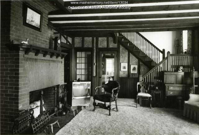 Living room, Brown-Donahue House, Cape Elizabeth, ca. 1962