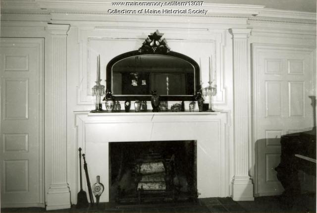 Fireplace, McCobb-Hill-Minott House, Phippsburg, 1962