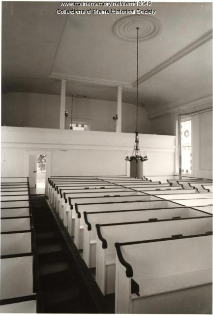 Rear of Sanctuary, Phippsburg Congregational Church, Phippsburg, 1962
