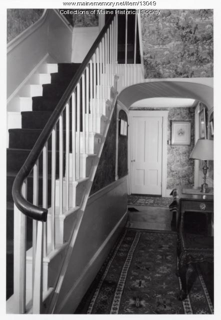 Stairway, Holden-Frost House, Topsham, 1962