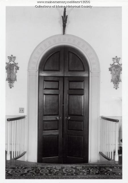 Ballroom doorway, Holden-Frost House, Topsham, 1962