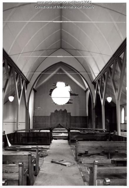 Nave, altar, Grace Episcopal Church, Bath, 1962