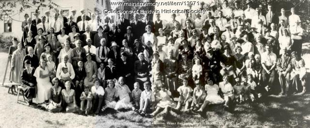 Nobel-Cram family reunion, West Baldwin, 1932