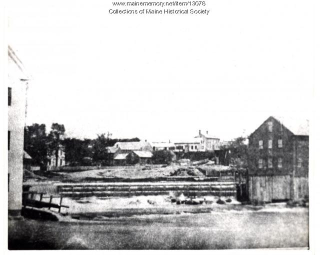 Island mill, Westbrook, ca. 1870