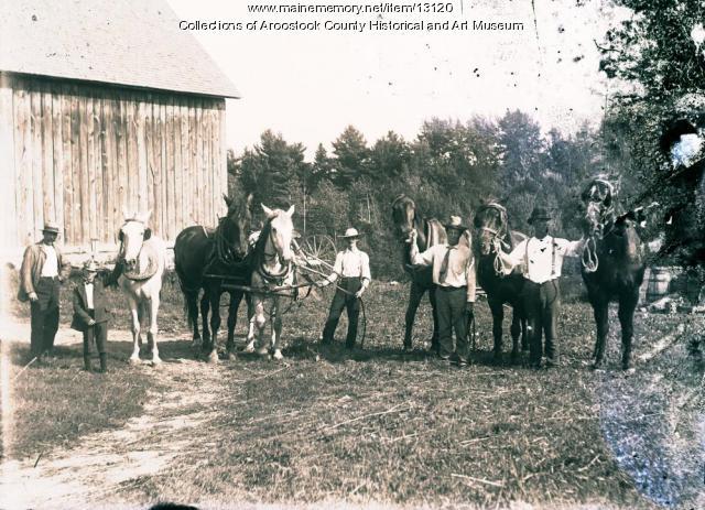 Farm gathering, Houlton, ca. 1900