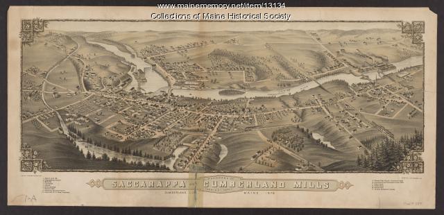 Saccarappa and Cumberland Mills panorama, 1879