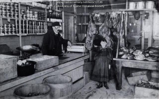 Jackson's meat market, 1903