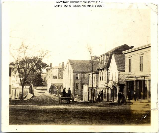 Bridge Street, Westbrook, ca. 1890