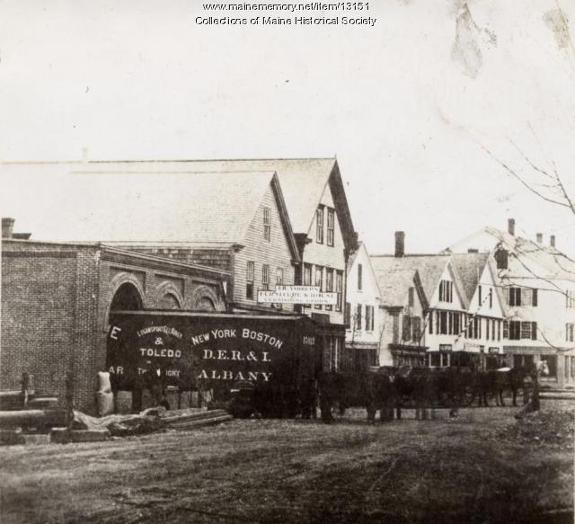 Morris' Grist Mill, Westbrook, ca. 1890