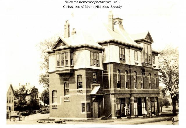 Cumberland Block, Westbrook, ca. 1882