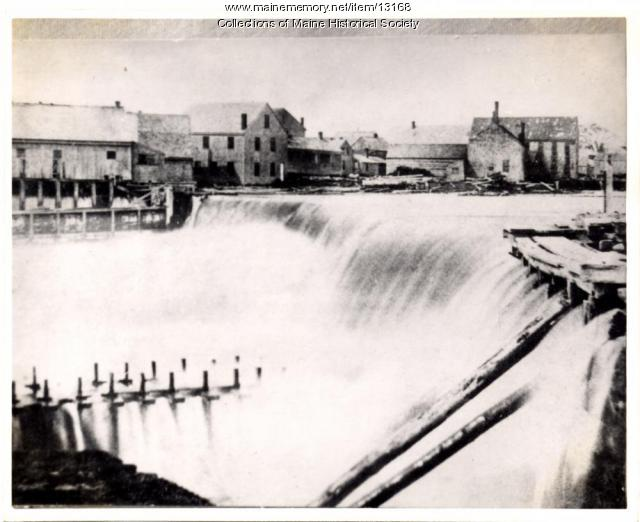 Lower Falls, Westbrook, ca. 1870