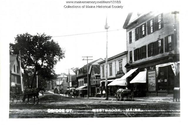 Bridge Street, Westbrook, ca. 1900