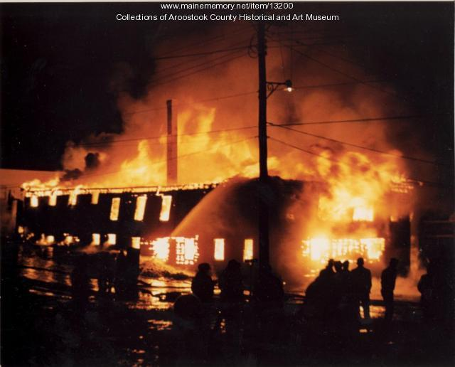 Houlton Grange Store fire, 1960