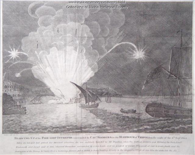 Blowing Up of the Fireship Intrepid, Tripoli Harbor, 1804