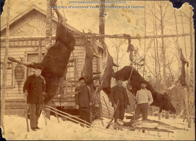 Gerrish Hunting Camp, North Twin Dam, ca. 1895
