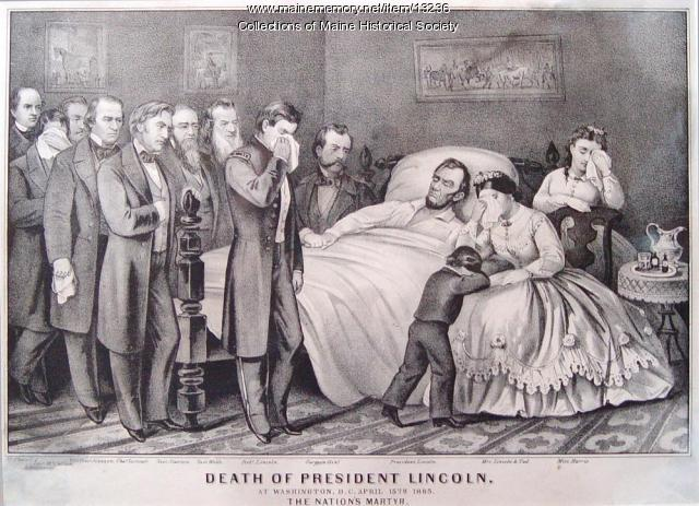 Maine Memory Network | Abraham Lincoln's Deathbed Scene ...