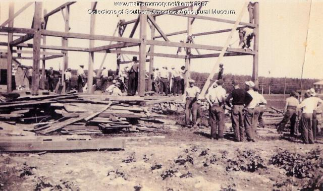Building walls, Littleton, ca. 1900
